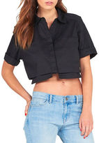 KENDALL + KYLIE Solid Short Sleeve Blouse