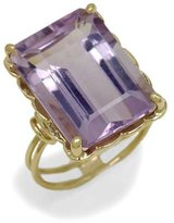 Tatitoto Gioie Women's Ring in 18k Gold with Hydrothermal Amethyst, Size 9, 6.6 Grams