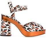 Charlotte Olympia 'Wild At Heart' sandals - women - Calf Leather/Leather/rubber - 37.5