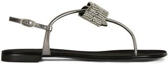 Giuseppe Zanotti Embellished Bow Sandals