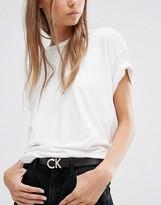 Calvin Klein - Ceinture en cuir avec