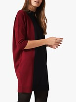 Phase Eight Cadi Colour Block Tunic Dress, Rust