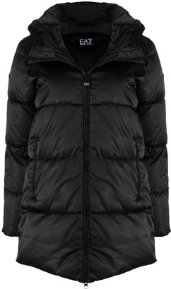 EA7 Emporio Armani Quilted Mid-Length Coat