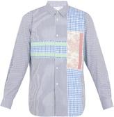 Comme des Garcons Contrast-panel striped cotton shirt