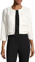 Karl Lagerfeld Open Front Textured Jacket