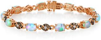 LeVian Le Vian 14K Strawberry Gold 4.75 Ct. Tw. Diamond & Opal Bracelet