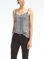 Banana Republic Windowpane Lightweight Wool Essential Cami