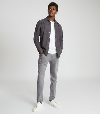 Reiss Sandy - Jersey Stretch Slim Fit Jeans in Soft Grey