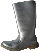 Pierre Hardy Silver Leather Boots