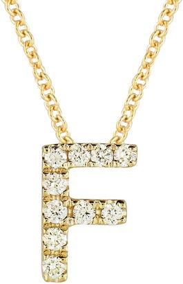 Bony Levy 18k Gold Pave Diamond Initial Pendant Necklace