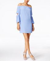 Kensie Split-Sleeve Off-The-Shoulder Dress