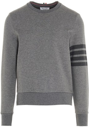 Thom Browne 4-Bar Crewneck Sweatshirt