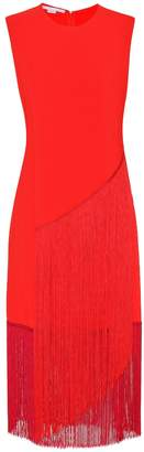 Stella McCartney Fringed crepe dress