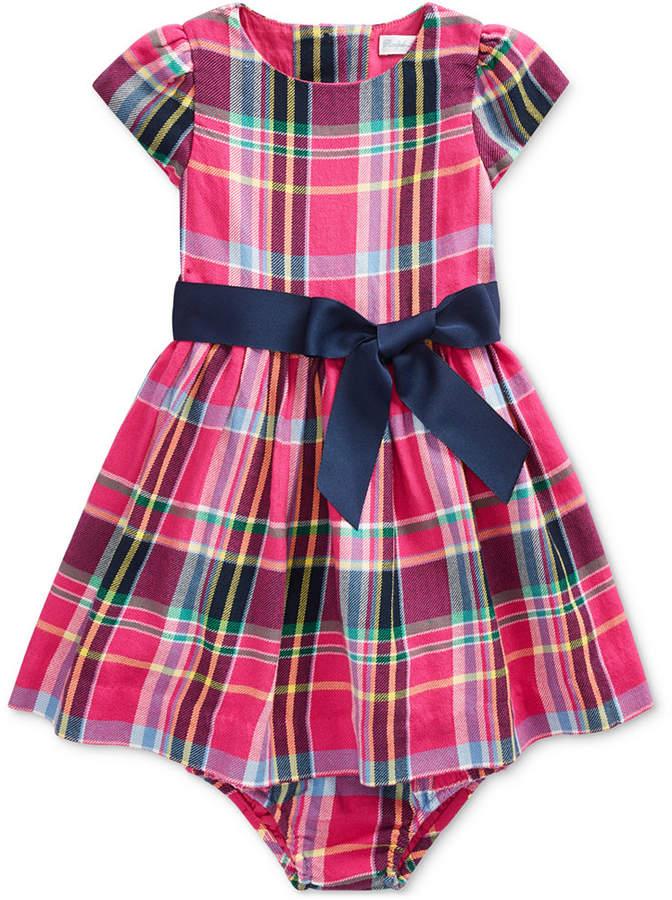 cc403a30 Baby Girls Plaid Cotton Dress
