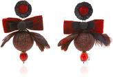 Ranjana Khan Red Disco Ball Earrings