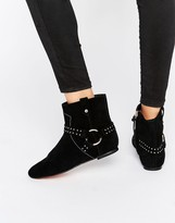 Ted Baker Sonoar Stud Suede Ankle Boots