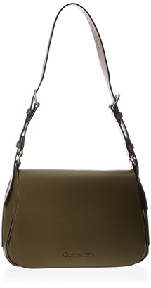 Calvin Klein Women's Punched Sml Satchel Satchel Green (Drk Olive) 0.1x0.1x0.1 cm (W x H x L)