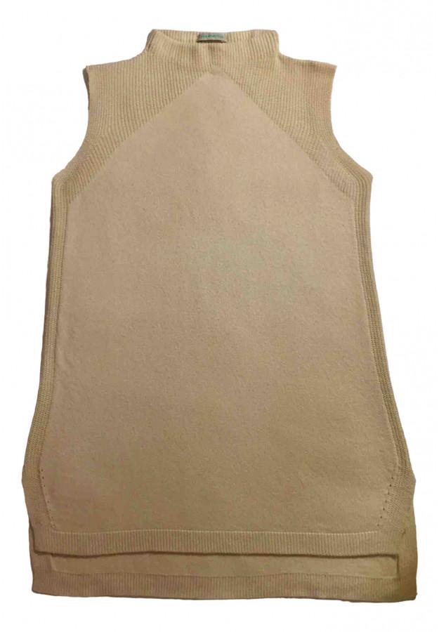 Benetton Ecru Cashmere Knitwear
