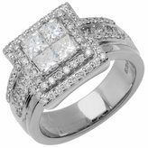 Amoro 18kt White Gold Diamond Ring (1.84 cttw, Color, SI2 Clarity)