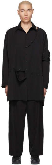 Yohji Yamamoto Black Detachable Button Shirt