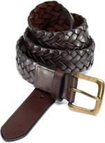 Charles Tyrwhitt Brown Plait Belt Size 30-32
