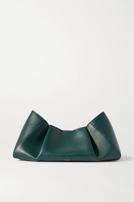KHAITE Jeanne Small Leather Clutch - Green
