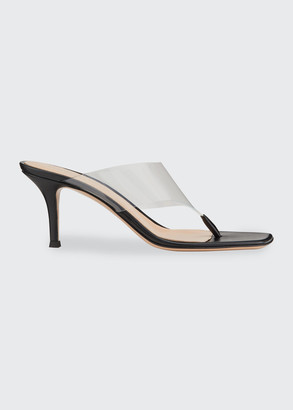 Gianvito Rossi 70mm Plexi Thong Sandals