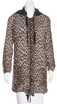 Lanvin Hooded Leopard Printed Sweatshirt