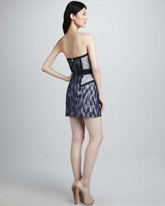Milly Dianna Strapless Tweed Dress