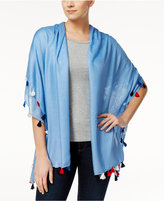 INC International Concepts Tassel Wrap and Scarf and Cover-Up in One, Created for Macy's