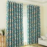 Kinlo Triangle Pattern Blackout Curtain 1 piece 145 W X 245 L CM ( 57''W x 96''L)Drape for Living Room Bedroom Office