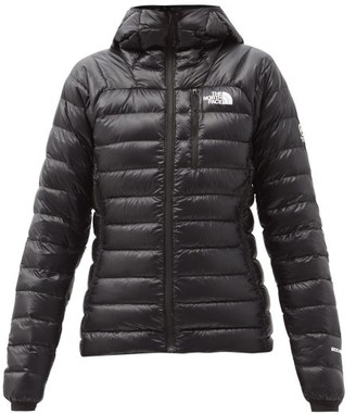 The North Face Summit Quilted Down Hooded Jacket - Black