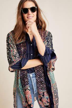 Anthropologie Frida Burnout Velvet Kimono
