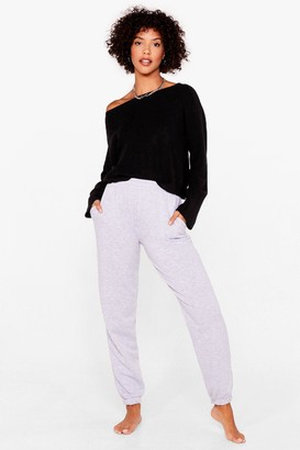 Nasty Gal Womens Knit's on the Agenda Relaxed Lounge Sweater - Black