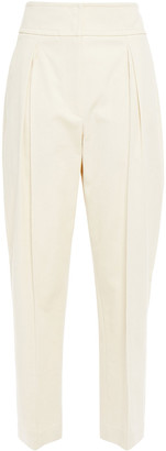 Brunello Cucinelli Cotton-blend Twill Tapered Pants