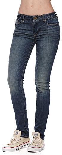Bullhead Black Mid Rise Eve Indigo Skinny Jeans