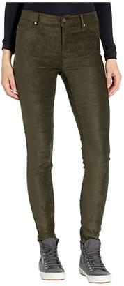 Liverpool Abby Stretch Suede Skinny Jeans in Slate Green (Slate Green) Women's Jeans