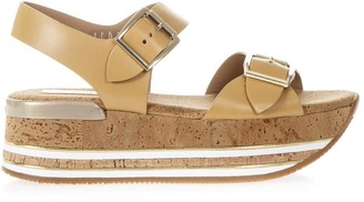 Hogan Maxi H222 Cork & Leather Sandals