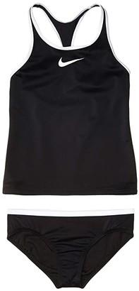 Nike Kids Racerback Tankini (Little Kids/Big Kids) (Black) Girl's Swimwear Sets
