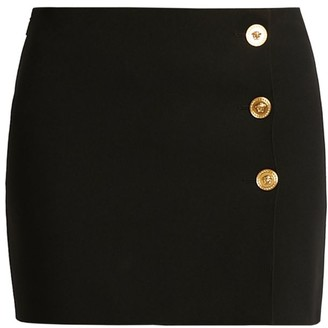 Versace Medusa Button Mini Skirt