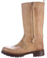 Hermes Nubuck Mid-Calf Boots