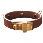 Hermã ̈S HermAs Mini Dog Camel Leather Bracelets