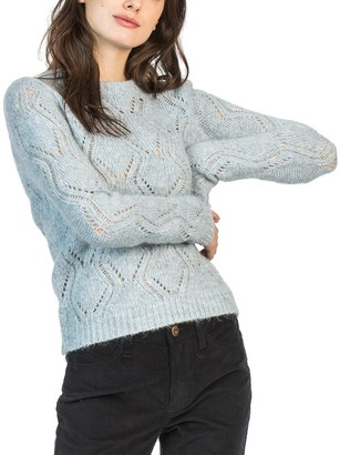 Leo & Sage Diamond Stitch Mohair & Wool-Blend Pullover