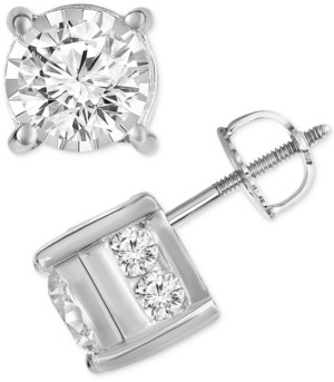 TruMiracle Diamond Stud Earrings (1-1/2 ct. t.w.) in 14k Yellow, White or Rose Gold