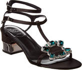 Roger Vivier Jewels Crown Satin Sandal