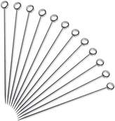 Cocktail Picks, XSHION 12 Pack Stainless Steel Martini Picks Fruit Picks Reusable Swizzle Sticks for Drink Coffee 4-1/5 Inch
