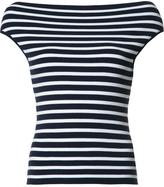 Michael Kors boatneck striped knitted blouse - women - Viscose - M
