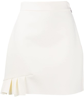 MSGM pleat-detail A-line skirt