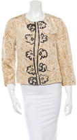Prada Silk Splatter Printed Jacket