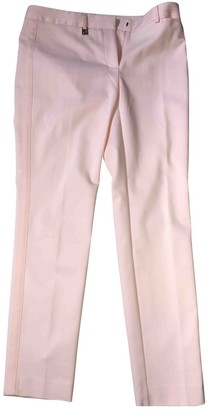 Karl Lagerfeld Paris Pink Cotton Trousers for Women